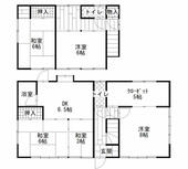 岡山市北区 谷万成1丁目 (備前三門駅) 2階建 5SDK