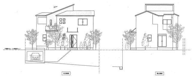 建築プラン例 立面イメージ図