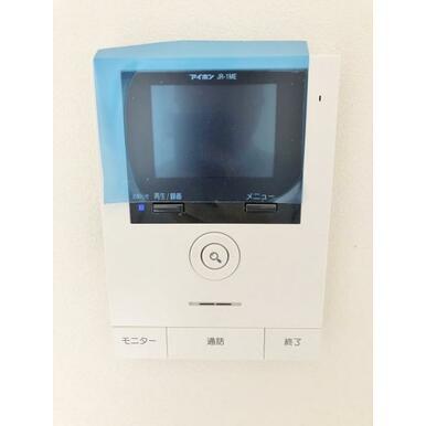 (設備) 録画機能付。安心のカラーモニターインターホン。