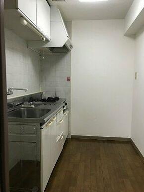 キッチンです。ガスコンロ2口設置タイプ