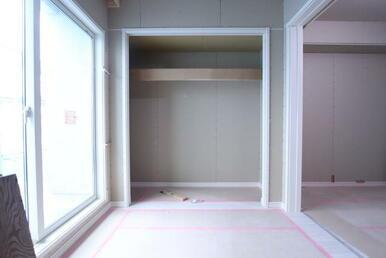 同タイプ306号室の建築中の写真です(2020年12月中旬撮影)