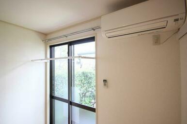 室内物干し設置☆雨の日も安心です。
