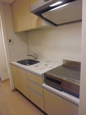 IHクッキングヒーター2口付きのキッチン