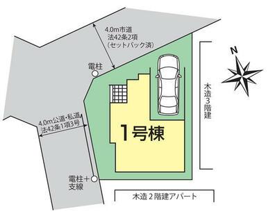 ふじみ野市鶴ケ舞1丁目2期1棟 区画図
