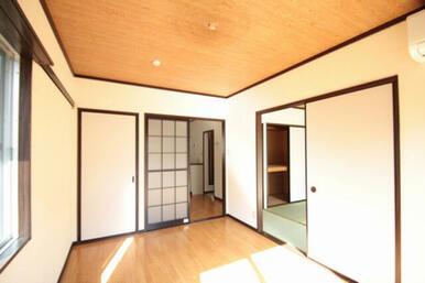 同じく洋室です。奥の扉は収納です。
