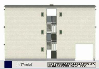 完成予定図(実際の建物と異なる場合がございます。また絵図中の周辺環境・空はイメージです。