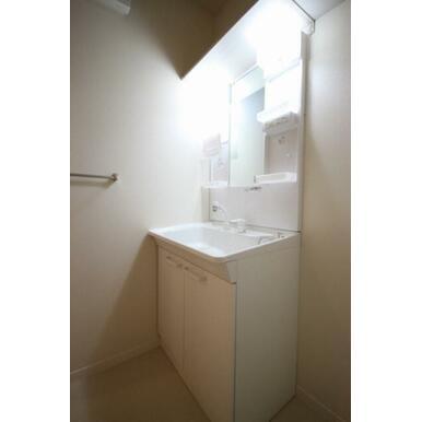 シャワー付き洗面化粧台がついているので、髪を洗う事や化粧台のお手入れの際も便利です☆