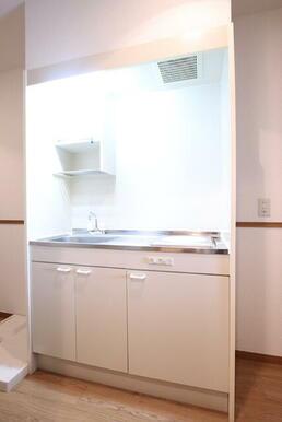 IHコンロ1口設置済のキッチン