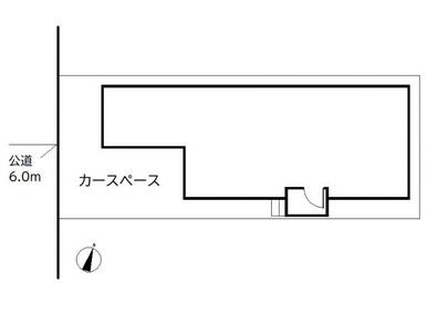 【配置図】 カースペース1台有♪