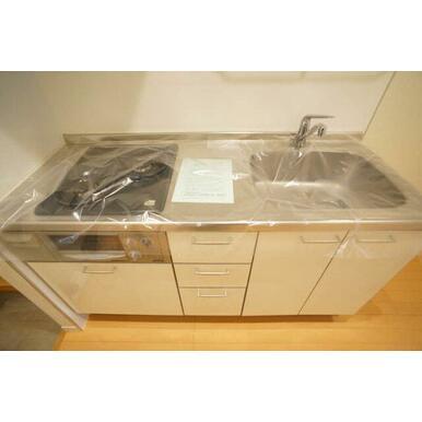 ◆キッチン◆ガスコンロ2口付きのシステムキッチンです◎