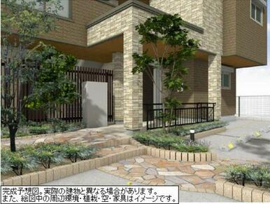 区画整理地内にあるため、まわりの建物も新しく美感に優れた街並みです。
