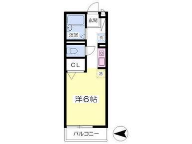 2階角部屋・バストイレ別・TVインターホン付き。
