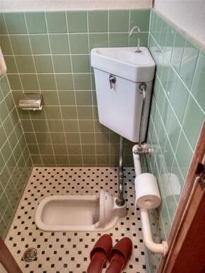 和式トイレです。