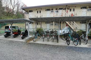 駐輪場☆バイクも駐輪可能です!