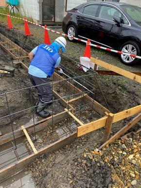 建築中に検査を行い、施工不備の無い体制で建築しております。この検査を行うことにより、第三者機関より1