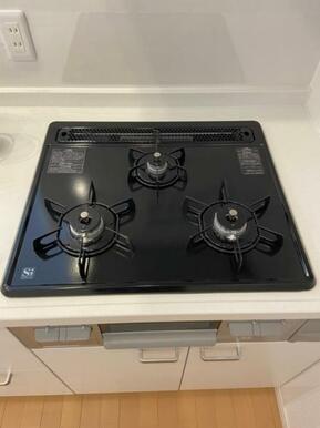 お料理好きの方にも嬉しい火加減調節可能なガスコンロ