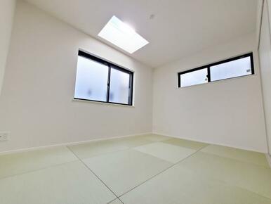6号棟:和室 急な来客時も安心の独立型のオシャレな洋風和室です。
