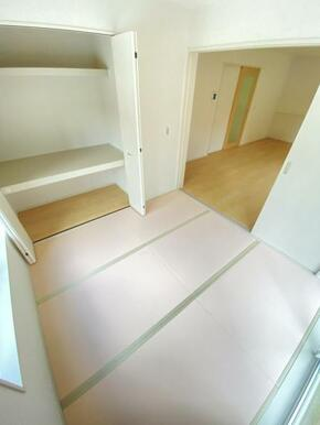 和室の扉を開け放つと約21.5帖の広々リビングに早変わり