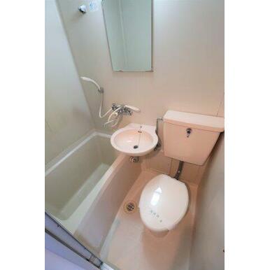 清掃済みで清潔なトイレ♪