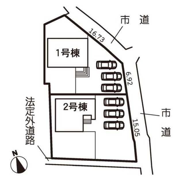 稲沢市 祖父江町甲新田高須賀 (上丸渕駅) 2階建 4LDKの画像