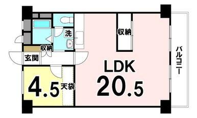 専有面積:56.72㎡ 1LDKの中古マンションです!