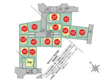 調布市東つつじヶ丘3丁目15棟の区画図