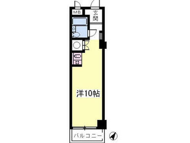 洋室10帖のワンルームです!