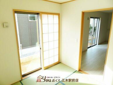 4.5帖の和室!収納スペースがあり、お部屋を有効活用できます♪