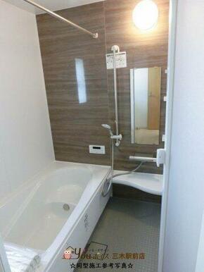 ☆同型施工参考写真☆  エコベンチ浴槽、乾きやすく掃除のしやすい床♪