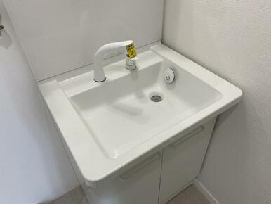 洗面台はシャワー機能付きです。
