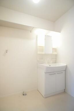 ☆洗面所☆独立洗面化粧台や洗濯機置き場、収納棚等備えております☆