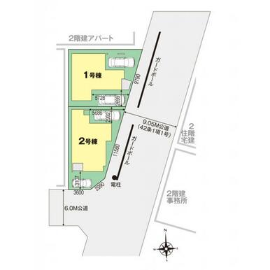 足立区花畑6丁目 区画図