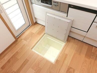 キッチンに床下収納