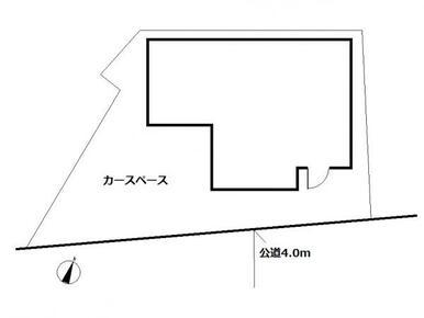 【配置図】普通車+軽のカースペースあり!