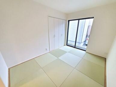 5号棟:和室 防汚加工が施されているので、お手入れも簡単です。