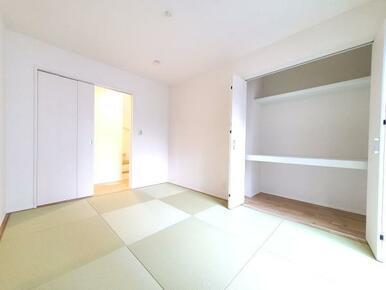 5号棟:和室 日焼けや色あせしにくく、美しさ長持ちの畳おもて。オシャレな洋風和室です。