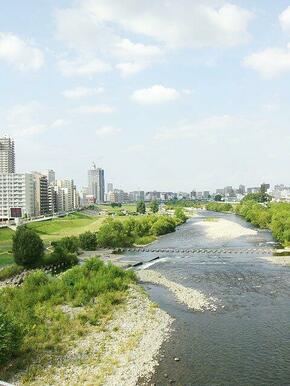 豊平川河川敷も徒歩5分