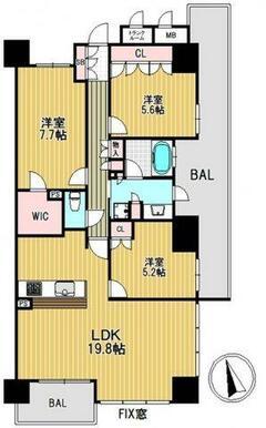 【間取り】各居室に収納があり、使いやすい間取になっています。