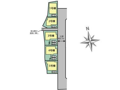 東大阪市日下町1丁目5棟 区画図