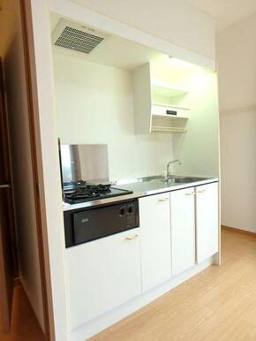 ガスコンロ2口付キッチン