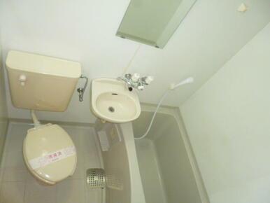 ★便利な鏡付きのバスルーム★