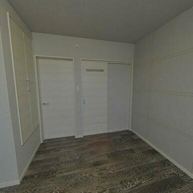 8.7帖洋室。ウオークインクローゼットがり寝室にちょうどいいお部屋です!