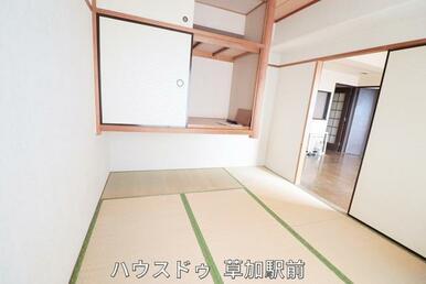 すぐに横になれる和室は寛ぎの空間(*^-^*)客間としても、寝室としても幅広く使用可能!