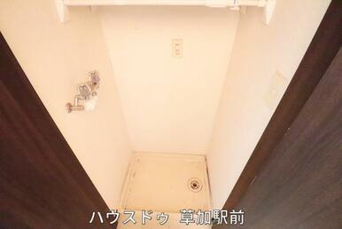 洗濯機置き場も確保しております♪