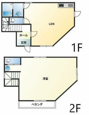 ☆トイレ・洗面台も2箇所あり便利です☆