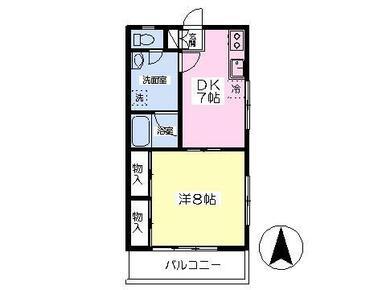最上階・南東向きの角部屋★1Kでは手狭な方へお勧めの1DKタイプ♪