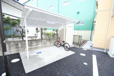 ■入居者専用屋根付き駐輪場■