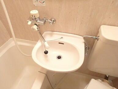 バスルームには便利な洗面台付き