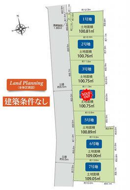 練馬区下石神井5丁目7区画 区画図