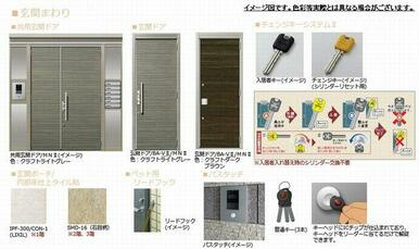 ■玄関ドアイメージ図■エントランスのオートロックには鍵を当てるだけで解除ができるパスタッチを採用★